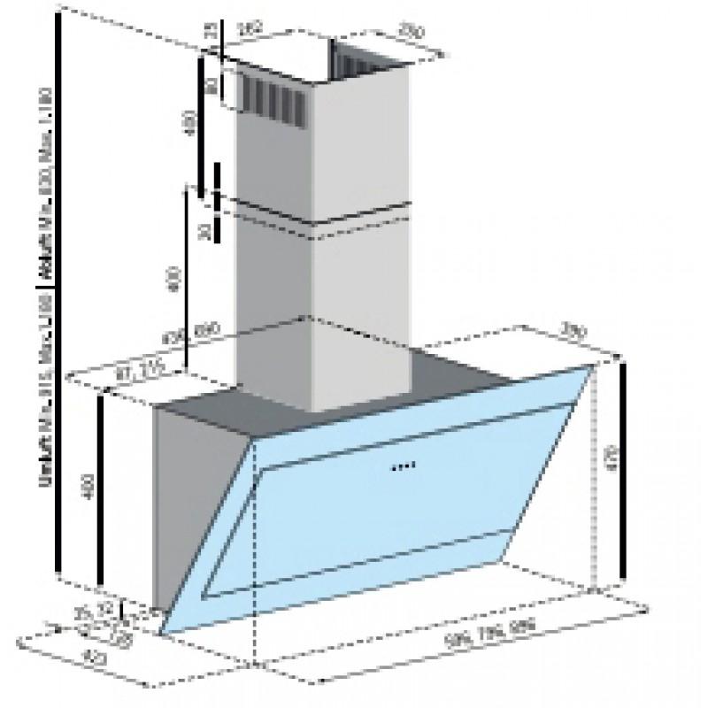kopffreihaube indira 80 cm weiss idw 883 w von silverline bei k chenplanet 24 kuechenplanet 24. Black Bedroom Furniture Sets. Home Design Ideas