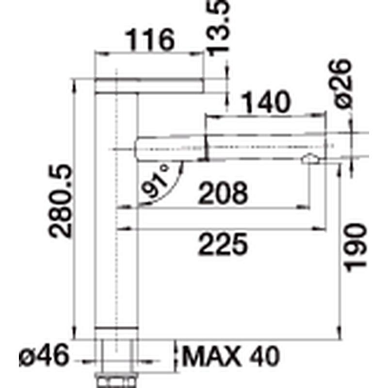 blanco linee s 517592 klar kompromisslos konsequent. Black Bedroom Furniture Sets. Home Design Ideas