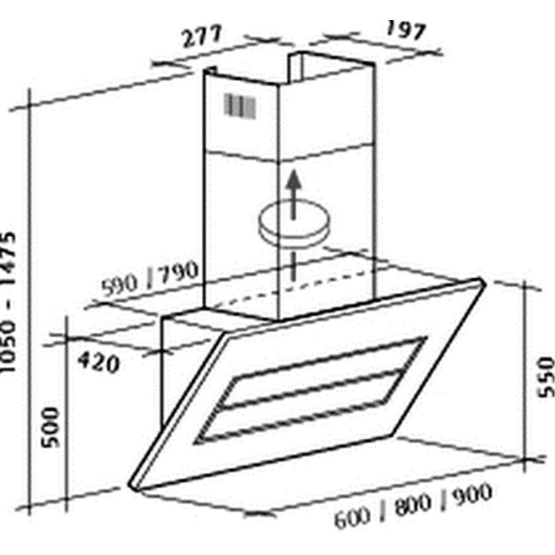 schr ghaube vento iii 80 cm edelstahl glas magnolie von. Black Bedroom Furniture Sets. Home Design Ideas